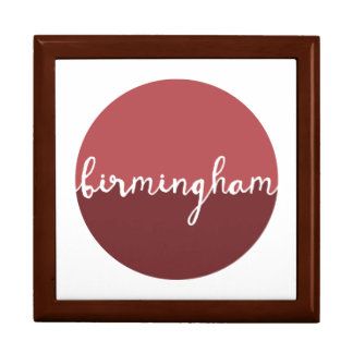 Birmingham, Alabama | Rust Ombre Circle Large Square Gift Box