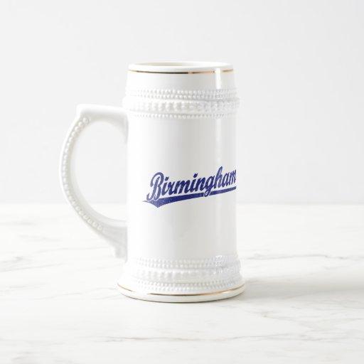 Birmingham script logo in blue mug