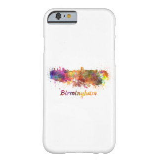 Birmingham skyline in watercolor barely there iPhone 6 case