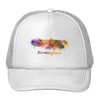 Birmingham skyline in watercolor cap