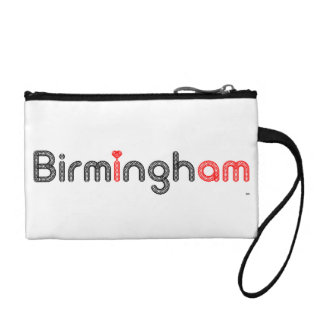 Birmingham's red Heart Coin Clutch Bag