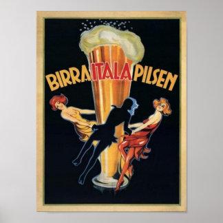 Birra Itala Pilsen Poster