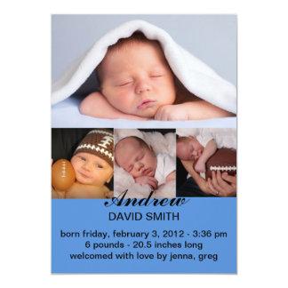 Birth Announcement Baby Boy Photo Card