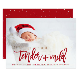 BIRTH ANNOUNCEMENT HOLIDAY CARD | Tender Christmas