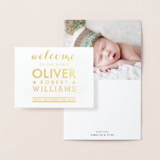 BIRTH ANNOUNCEMENT newborn baby simple text stack