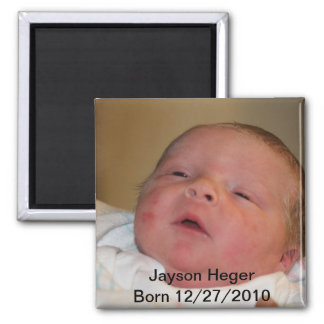 Birth Announcement Square Magnet