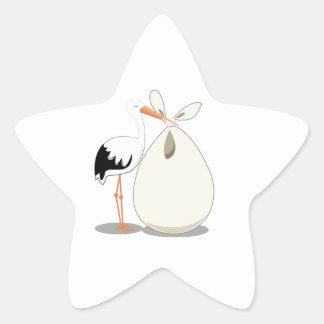 Birth Announcement Star Sticker
