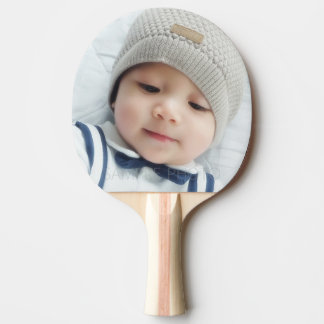 Birth Announcement with Custom Newborn Baby Photo Ping Pong Paddle