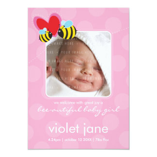 BIRTH ANNOUNCEMENTS :: bee-autiful 4P