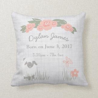 Birth Baby Pillow Lamb Boy Girl Nursery