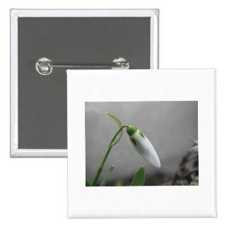 Birth Flower - January - Snowdrop 15 Cm Square Badge