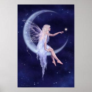 Birth of a Star Moon Fairy Poster Art Print