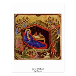 Birth Of Christ By Duccio Postcard
