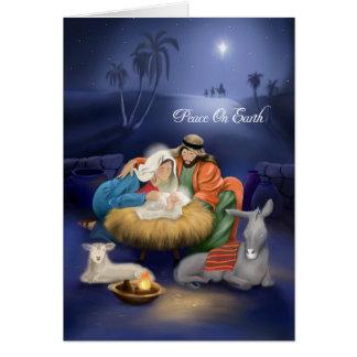 Birth Of Jesus Christmas Card