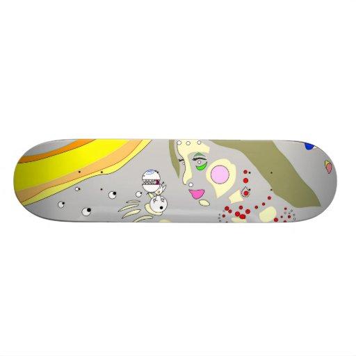 """ Birth of Lil' t "" Skate deck"