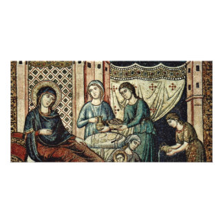 Birth Of Mary By Cavallini Pietro (Best Quality) Custom Photo Card