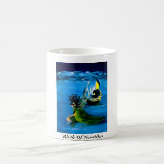 """BIRTH OF NAUTILUS"" 11 oz. WHIMSICAL FAIRY COFFEE Coffee Mug"