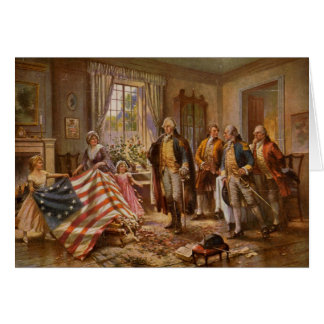 Birth of Old Glory - Edward Moran (1917) Card