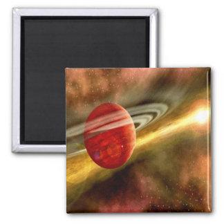 Birth of Saturn Square Magnet