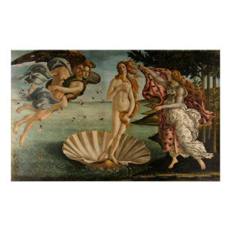 Birth of Venus by Botticelli Poster