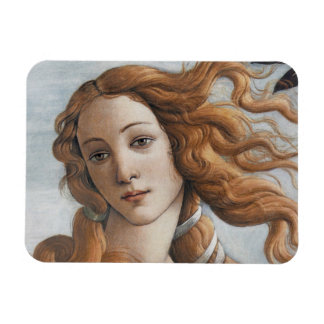 Birth of Venus close up head Flexible Magnets