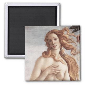 Birth of Venus in detail Square Magnet
