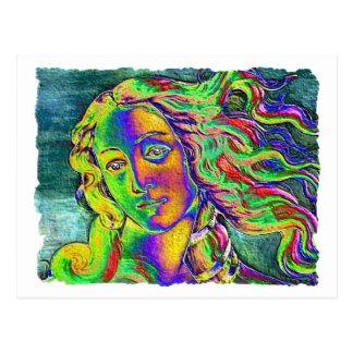 Birth of Venus Rough Edge Postcard