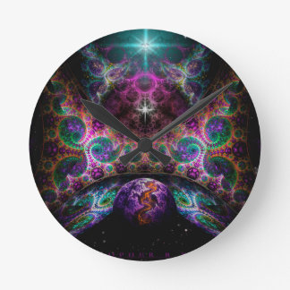 """Birth Of Worlds"" by Christopher R Peters Wall Clocks"