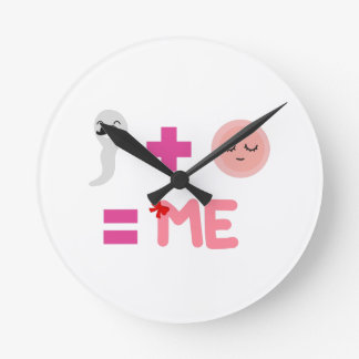 Birth Process  Round (Medium) Clock