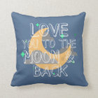 Birth Stats Blue Love You To The Moon Baby Pillow