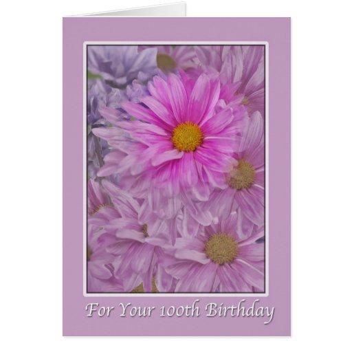 Birthday, 100th, Daisies Cards