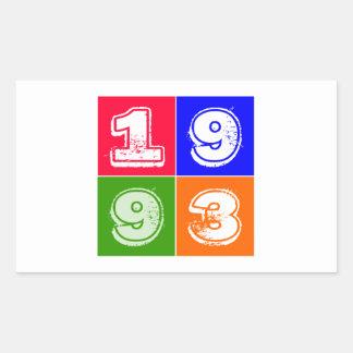 Birthday 1993 rectangular stickers