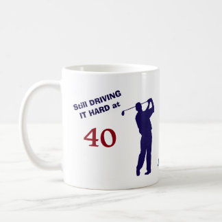 Birthday 40 Golfer Coffee Mug