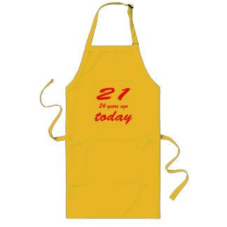 birthday 45 long apron