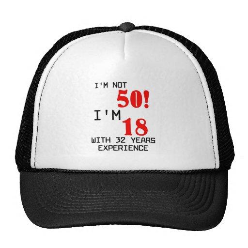 Birthday 50th mesh hats