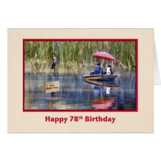Birthday, 78th, Two Fishermen at the Lake Card