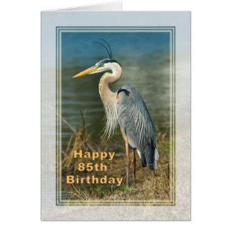 Birthday, 85th, Great Blue Heron Bird Card