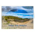 BIRTHDAY- 90th- BEACH/OCEAN/DUNES/SCENE Card