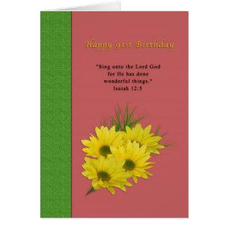 Birthday, 91st, Yellow Daisies, Religious Cards