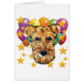 BIRTHDAY AIREDALE TERRIER CARD