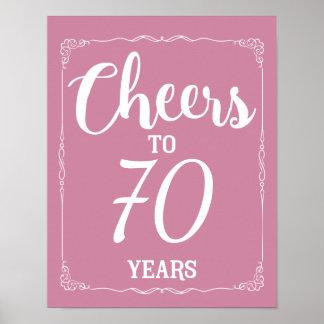 Birthday Anniversary Retirement change the number Poster