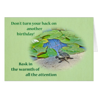 Birthday - Baby Snapping Turtle Card