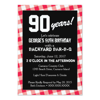 Birthday Backyard BAR-B-Q Invitation