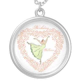 Birthday Ballerina Heart Necklace