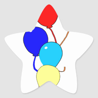 Birthday Ballons Star Sticker