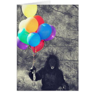 birthday balloons ape card
