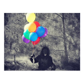 birthday balloons ape postcard