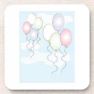 Birthday Balloons Beverage Coasters