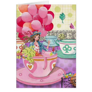 Birthday Balloons Girl Funfair | Birthday Card