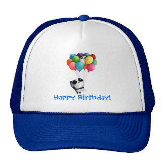 Birthday Balloons Panda Bear Cap